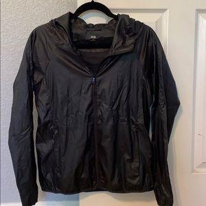 Uniqlo black windbreaker jacket